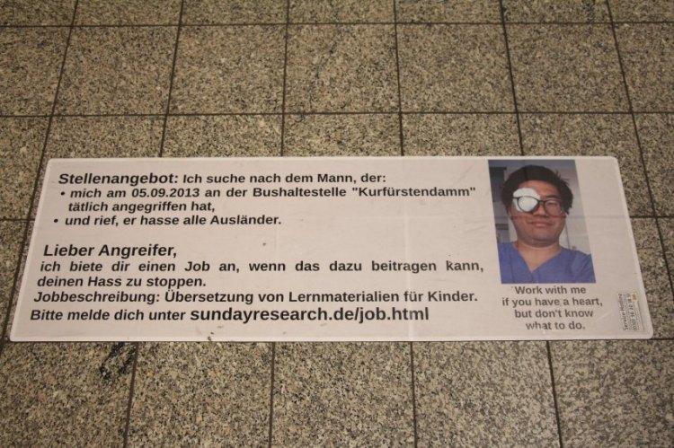 Yamauchi/ Berlin/ Ausländerfeindlichkeit